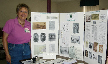 Carol McCoy at the Genealogical Fair in Winslow, Maine June 2007