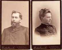 Samuel Pollock and Mrs. Julia Pollock about 1882 Washington, D.C. Photos sent by someone who found them in an antique store in Kentucky!