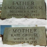 Marker of Solomon Mitchell Grouse & Kate Wollner Grouse.