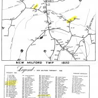 Early map of New Milford township in Pennsylvania 1830
