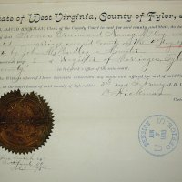 Marriage of Nancy McCoy to Thomas Erwin, WV 1854.