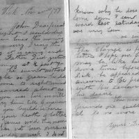 Letter about death of Joseph McCoy on Nov, 1, 1877