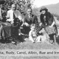 Julia, Rudy, Albin and Irma Pollock 1922.