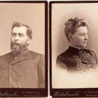 Sam Pollock and His Wife, Washington DC circa 1880.