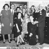 Jane Wiske and Rawley D. McCoy family on October 11, 1947.