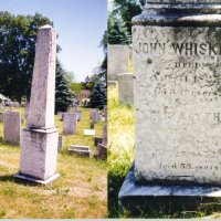 Grave Stone of Johnny Whiskey in Catskills, NY.